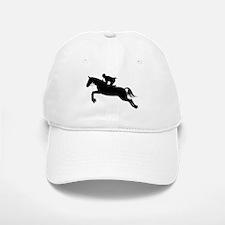 Horse Jumping Silhouette Baseball Baseball Cap