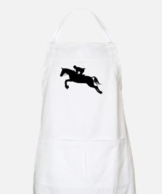 Horse Jumping Silhouette Apron