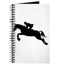 Horse Jumping Silhouette Journal