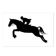 Horse Jumping Silhouette Postcards (Package of 8)