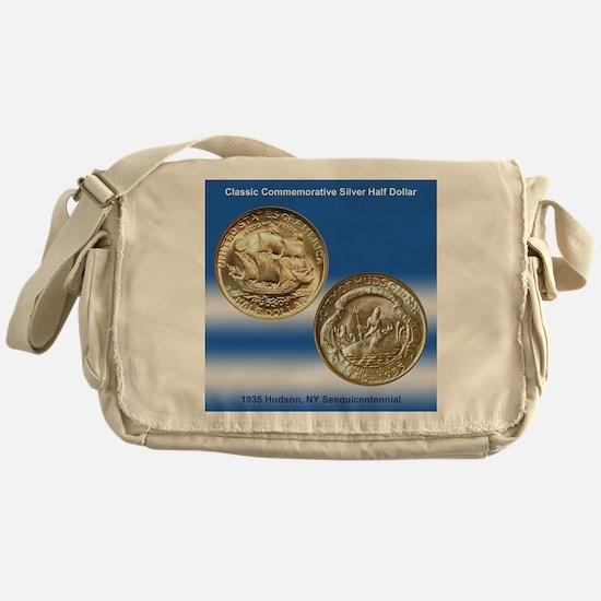 Hudson NY Sesquicentennial Coin Messenger Bag