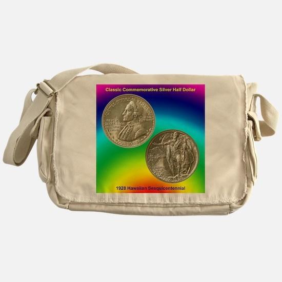 Hawaiian Sesquicentennial Coin Messenger Bag