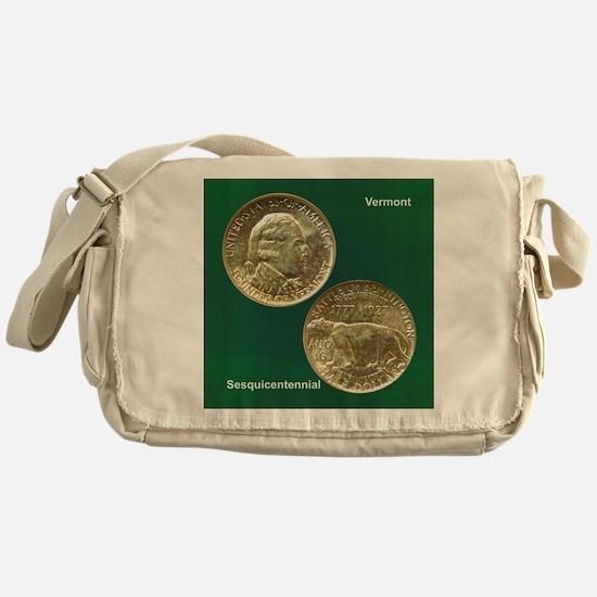 Vermont Sesquicentennial Coin Messenger Bag