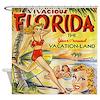 Vintage Florida Vacationland Shower Curtain