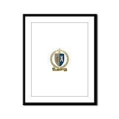 POTTIER Family Crest Framed Panel Print