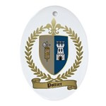 POTTIER Family Crest Oval Ornament