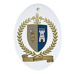 POTTIER Family Crest Oval Ornament