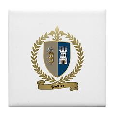 POTTIER Family Crest Tile Coaster