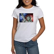 Lady Liberty celebrates Freedom on the 4th T-Shirt