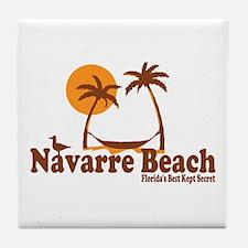 Navarre Beach - Palm Trees Design. Tile Coaster
