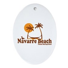Navarre Beach - Palm Trees Design. Ornament (Oval)