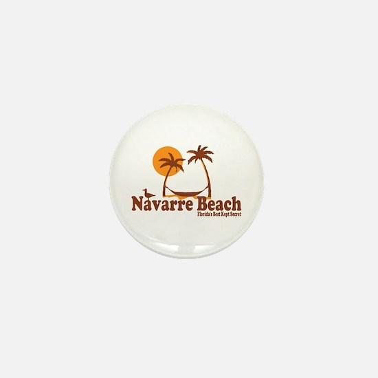 Navarre Beach - Palm Trees Design. Mini Button