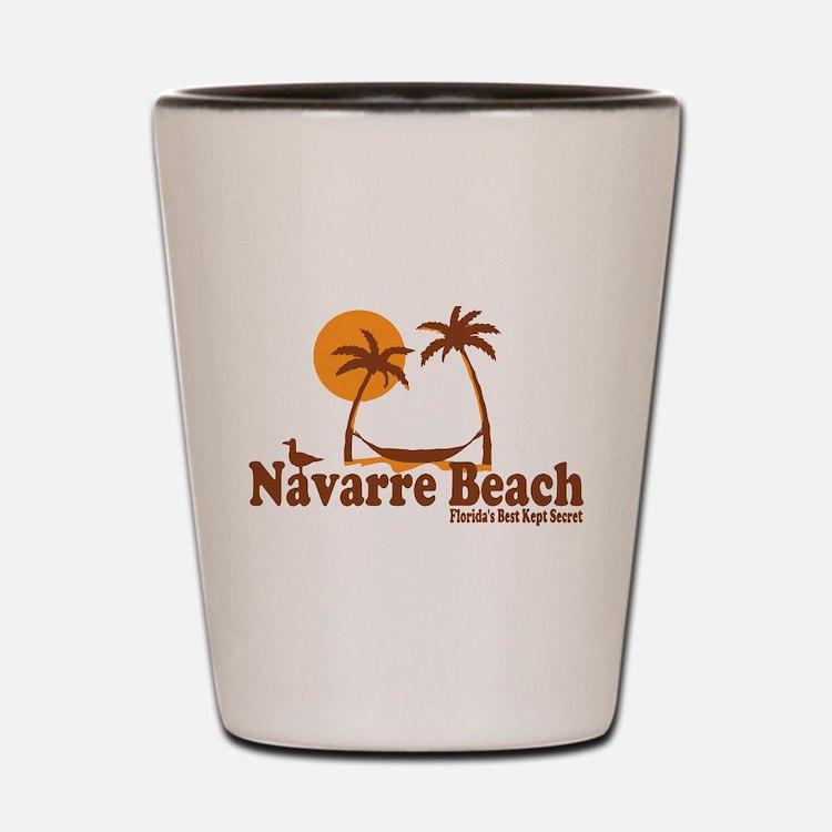Navarre Beach - Palm Trees Design. Shot Glass