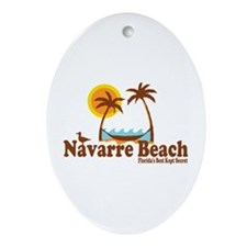 Navarre Beach - Palm Trees Design. Ornament (Oval)