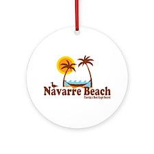 Navarre Beach - Palm Trees Design. Ornament (Round