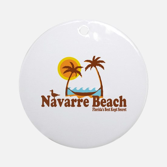 Navarre Beach - Palm Trees Design. Ornament (Round