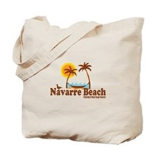Navarre Beach - Palm Trees Design. Tote Bag