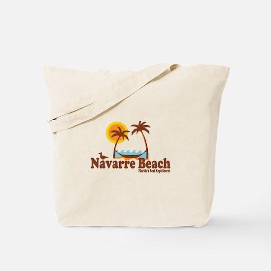 Navarre Beach - Palm Trees Design. Tote Bag