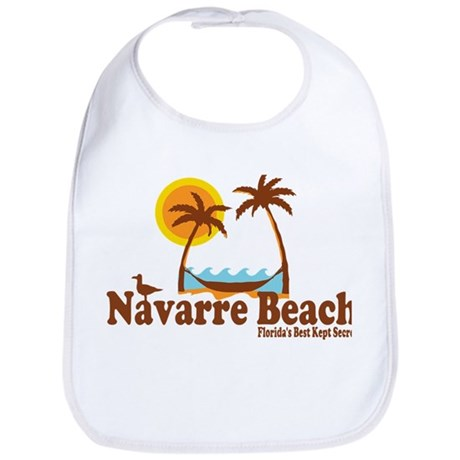 Navarre Beach - Palm Trees Design. Bib