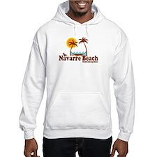 Navarre Beach - Palm Trees Design. Hoodie Sweatshirt