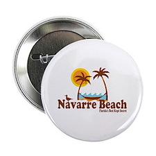 "Navarre Beach - Palm Trees Design. 2.25"" Button"