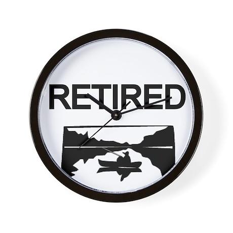 RETIRED-lake Wall Clock
