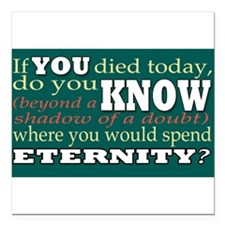 "eternity Square Car Magnet 3"" x 3"""