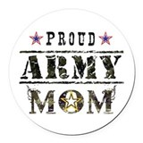 Army mom Round Car Magnets