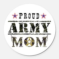 Army Mom Round Car Magnet