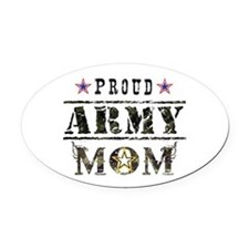 Army Mom Oval Car Magnet