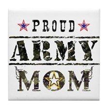 Army Mom Tile Coaster