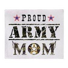 Army Mom Throw Blanket