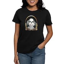 Shih Tzu Pup Holiday/Christmas Womens Dark T-Shirt