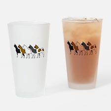 Group O' Akitas Drinking Glass