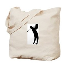 Golfing Silhouette Tote Bag