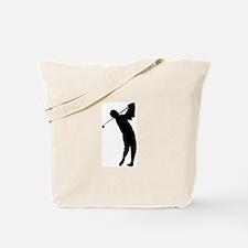 Golfing Silhouette Tote Bag