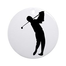 Golfing Silhouette Ornament (Round)