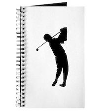 Golfing Silhouette Journal
