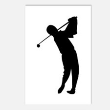Golfing Silhouette Postcards (Package of 8)