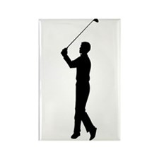 Golf Silhouette Rectangle Magnet