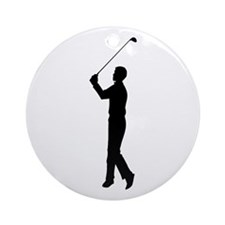 Golf Silhouette Ornament (Round)