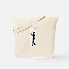 Golf Silhouette Tote Bag