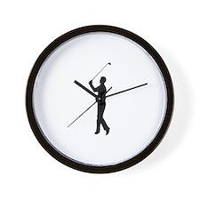 Golf Silhouette Wall Clock