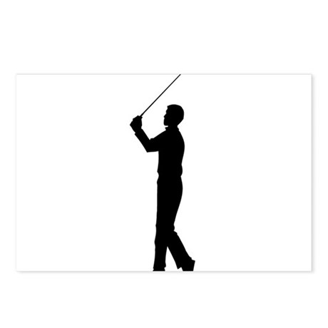 Golf Silhouette Postcards (Package of 8)