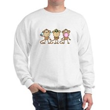 Hear See Speak No Evil Monkey Sweatshirt