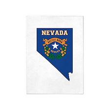 Nevada Flag 5'x7'Area Rug