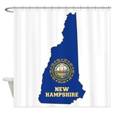 New Hampshire Flag Shower Curtain