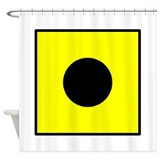 Nautical Flag Code India Shower Curtain