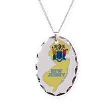 New Jersey Flag Necklace