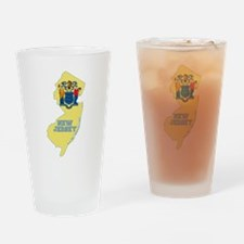 New Jersey Flag Drinking Glass